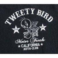 Looney Tunes ルーニー・テューンズ メンズ 長袖Tシャツ ロンT チェーン刺繍