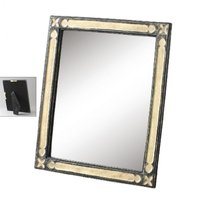 上品な輝き◆カピス貝の華やかな卓上ミラー鏡◆姿見ドレッサー「納期約1週間」