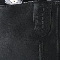 パスディス PASSE-DIX ハンドクラフトかがりフリンジトートバッグ (ブラック)