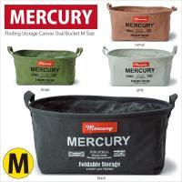 MERCURY社「キャンバス オーバルバケツ Mサイズ」です。 容量30L越えのオーバル型なので、予...