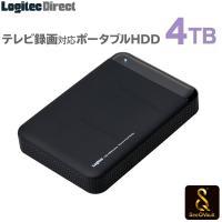 SeeQVault対応 外付けHDD ポータブルハードディスク 4TB テレビ録画 シーキューボルト 2.5インチ USB3.1(Gen1) / USB3.0 LHD-PBM40U3QW