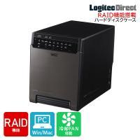 3.5インチSATAハードディスクを最大で4台装着できる、RAID機能搭載の4BAY外付型3.5イン...
