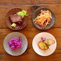 和風モノトーン しのぎ彫り 全4color 小皿 9.3cm 日本製 小皿 豆皿 醤油皿 薬味皿 おしゃれ お皿 皿 食器 プレート 陶器 美濃焼 かわいい おうちごはん