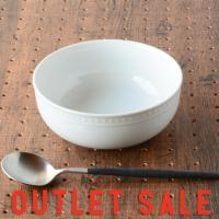 アウトレット 食器 おしゃれ お皿 鉢 ボウル 小鉢  丸鉢 オシャレ 可愛い 日本製  ホワイト 15cm ドット シリアルボウル