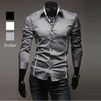 男性に着てほしい服をコンセプトに作られた シンプルシャツは、どこを見てもカッコイイ~ ラインが入って...