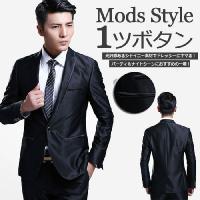 「セール」シャイニー素材で華やかさアップ!男のドレススーツ! ジャケットは全体的に細身のデザインであ...