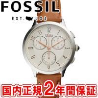 フォッシル レディース腕時計 アビリーン 34mm アイボリー/シルバー/ブラウンレザー FOSSI...
