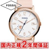 フォッシル レディース腕時計 ビンテージミューズ ホワイト/ローズゴールド/ピンクベージュレザー F...
