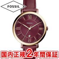 フォッシル レディース腕時計 ジャクリーン 36mm ワインレッド/ローズゴールド/ワインレッドレザ...