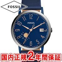 フォッシル レディース腕時計 ビンテージミューズ ブルー/ローズゴールド/シルバー/ブルーレザー F...