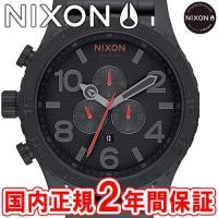NIXON ニクソン THE51-30 CHRONO クロノグラフ腕時計 オールブラック/スタンプド...