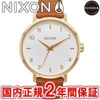 NIXON ニクソン THE ARROW LEATHER アローレザー レディース腕時計 ゴールド/...