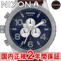 NIXON ニクソン THE51-30 CHRONO LEATHER クロノグラフ メンズ腕時計 ブ...