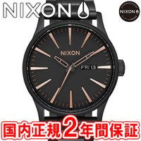 NIXON ニクソン THE SENTRY SS セントリーSS メンズ腕時計 オールブラック/ロー...
