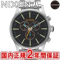 NIXON ニクソン THE SENTRY CHRONO セントリークロノ メンズ腕時計 ブラック/...