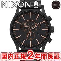 NIXON ニクソン THE SENTRY CHRONO セントリークロノ メンズ腕時計 オールブラ...
