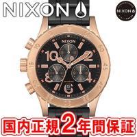 NIXON ニクソン THE38-20 CHRONO クロノグラフ腕時計 ブラック/ローズ/ブラック...