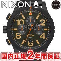 NIXON ニクソン THE48-20 CHRONO クロノグラフ腕時計 オールブラック/サープラス...