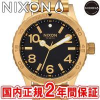 NIXON ニクソン THE 46 メンズ腕時計 オールゴールド/ブラック NA916510-00 ...