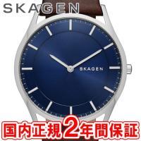 SKAGEN スカーゲン メンズ腕時計 HOLST スチール・レザー 40mm ブルー/シルバー/ダ...