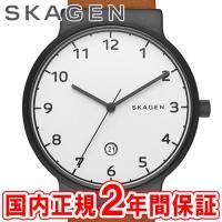 SKAGEN スカーゲン メンズ腕時計 ANCHER スチール・レザー 40mm ホワイト/ブラック...