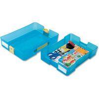 クリアでおしゃれなおどうぐ箱です。完全に留まるワンタッチ留め具、持ち運びに便利な取手など数々の特長を...
