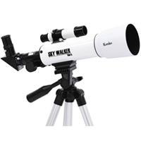 対物レンズ有効径50mmの屈折式望遠鏡。正立プリズムも同梱されているので地上観測にもお使いいただけま...