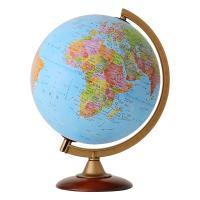 文字が読みやすいシンプルで美しい地図です。球径:25cm/行政図/プラスチックフレーム&純木...