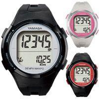 腕時計タイプだから、使いやすい!見やすい!時刻合わせ不要の電波時計内蔵万歩計です。   ■センサー:...