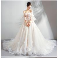 7a6741c138422 ... 花嫁ドレス ウエディングドレス 披露宴二次会 気質チューブトップ Aライン ロングトレーン ウエディングドレス 白 ...