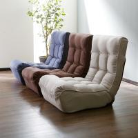 ソファの心地よさを座椅子にしました。 サイズ:幅60x奥行82−105x高さ66−74cm(座面高2...