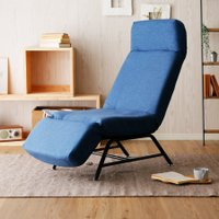 ハイバック脚付き座椅子 サイズ:幅55x奥行84-154x高さ38-105cm 素 材:スチールパイ...