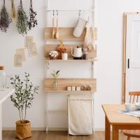 壁スペースや何もない空間が便利スペースに!オシャレなインテリア性も兼ね揃えた壁面収納です。  サイズ...