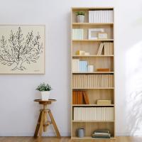 木目調が美しい薄型フラットのハイタイプ本棚です。 サイズ:幅60x奥行22x高さ180cm 素 材:...