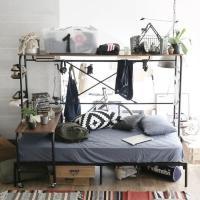 ベッドにデスク、収納が付いた便利なステーションベッド。 お気に入りをいつも手の届く範囲に。 ■サイズ...
