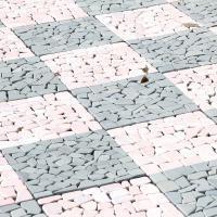 敷くだけでお庭の雰囲気変わる、石畳マット10枚セット サイズ:幅30.5x奥行30.5x高さ1.3c...