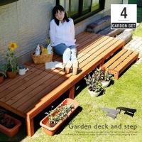 フェンスなしタイプの「ウッドデッキ」で憩いのお庭へ! サイズ: ウッドデッキ全体:幅270x奥行90...
