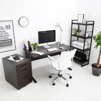 書斎やオフィスをオシャレに変えるデスク2点セットです。 ■サイズ デスク:幅1200x奥行700x高...