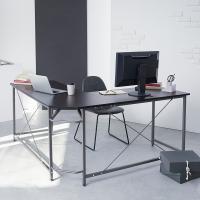 L字のPCデスク(ハイタイプ/スリム)。デザインと機能を両立したパソコンデスクです。  ■サイズ 幅...