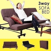 折りたたみベッドは、ゆったりくつろげるセミダブルが人気。本を読んだり、くつろぎソファーにも大変身。頭...