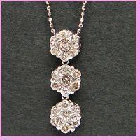 ダイヤモンドプチネックレス ホワイトゴールド|lumiere-j