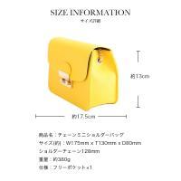 選べる7色【チェーンミニショルダーバッグ】 バッグ カバン チェーンバッグ
