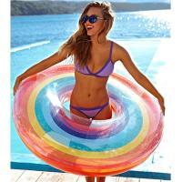 【送料無料】子供用 浮き輪 レインボー 虹 rainbow SNS映え 浮輪 子ども用 こども用 海 プール ビーチ 可愛い (55)