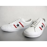 COLOR: White/Red/Navy CONVERSE STAR & BARS LEA...