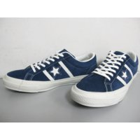 COLOR: NAVY/WHITE CONVERSE STAR & BARS SUEDEにな...