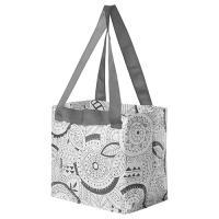 IKEA/イケア SLAFEN スラフェン キャリーバッグS 花柄 ショッピングバッグ  エコバッグ メール便送料無料  ポイント消化