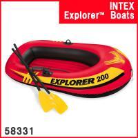 製品サイズ:約185CMX94CMX41CM  INTEXエクスプローラ200 二人乗りのボート。