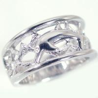 ハワイアンジュエリー ペアリング シルバー 結婚指輪 マリッジリング 2本セット SV925 ドルフィン