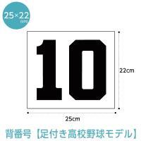背番号ゼッケン 中学高校野球モデル W25cm×H22cm