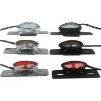 バイク レトロ LED スリム アイ テール ランプ 12V アメリカン タイプ ブラック シルバー レンズカラー クリア スモーク レッド